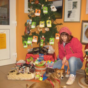 Weihnachtliche Bescherung von Zoo & Co an Tierheiminsassen.